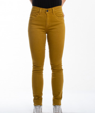 Pantalon Droit Uni 5 Poches 4 Coloris
