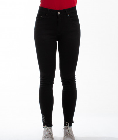 Pantalon Noir Slim Noeud Papillon