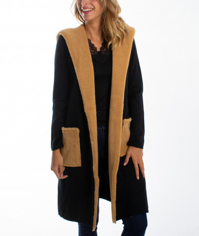 Manteau/Gilet Long à Poches 5 Coloris