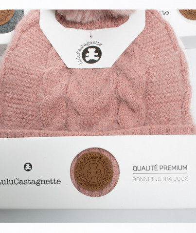Bonnet Lulu Castagnette Maille Poilue 6 Coloris