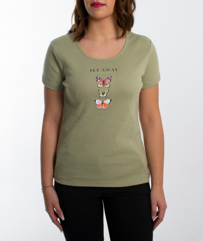 Tee-shirt Papillon 3 coloris